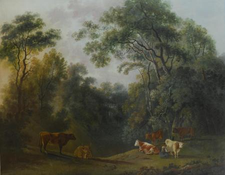 Landscape by George Barret Wikimedia, Public Domain