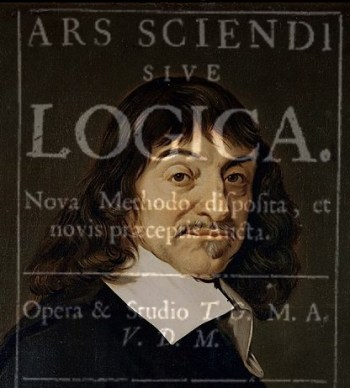 Descartes and Ars Sciendi (edit of public domain image, Wikimedia)