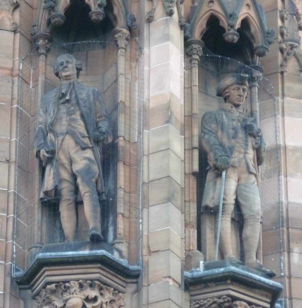 Statues of David Hume and Adam Smith, Scottish National Portrait Gallery