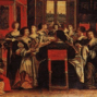 A room of 17th century women in conversation