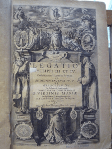 Frontispiece of Luke Wadding's Legatio