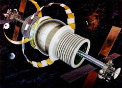 Exterior view of Bernal Sphere. Art work: Rick Guidice courtesy NASA Ames Research Center