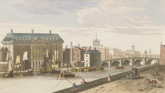 A view of the original 18th century Custom House, and Essex Bridge, viewed from the north side of the river