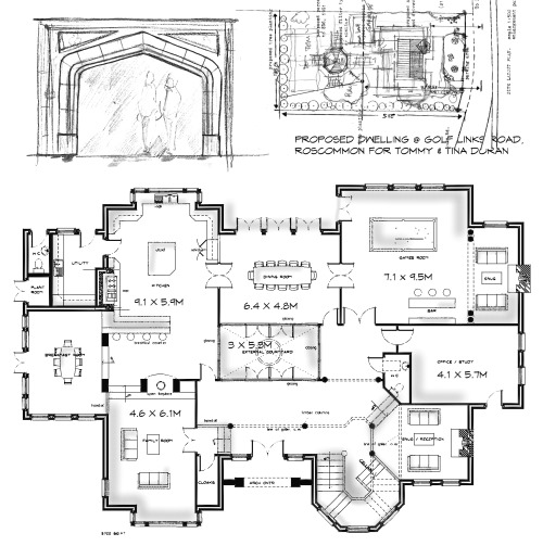 Creative Design Layout Plans To Proposed 5000sq Ft House Design