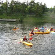 Kayaking at Creggan Country Park - Irish Rugby Tours, Rugby Tours to Derry