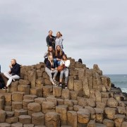 Basingstoke Girls at Giants Causeway - Irish Rugby Tours To Belfast
