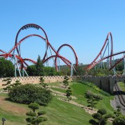 Rollercoaster Port Aventura Spain - Irish Rugby Tours To Barcelona