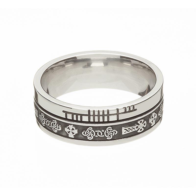 Celtic Ring Comfort Fit Faith Celtic Cross Irish