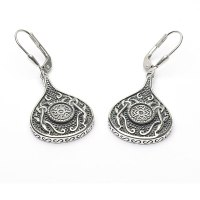 Celtic Earrings - Antiqued Sterling Silver Celtic Cross ...