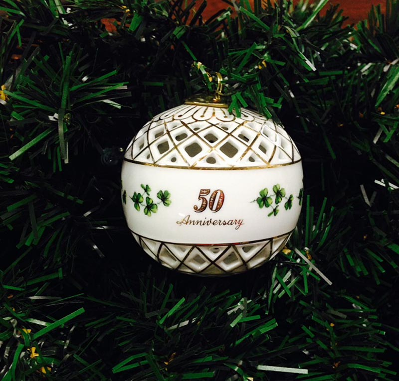 irish ornament 50th anniversary