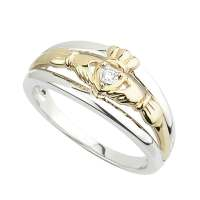 Claddagh Ring - Yellow Gold and Sterling Silver Claddagh ...