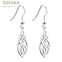 Celtic Earrings - Sterling Silver Celtic Trinity Knot ...