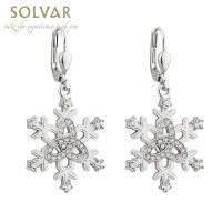 Irish Earrings - Snowflake Trinity Knot Earrings at ...