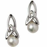 Trinity Knot Earrings - Sterling Silver Celtic Trinity ...