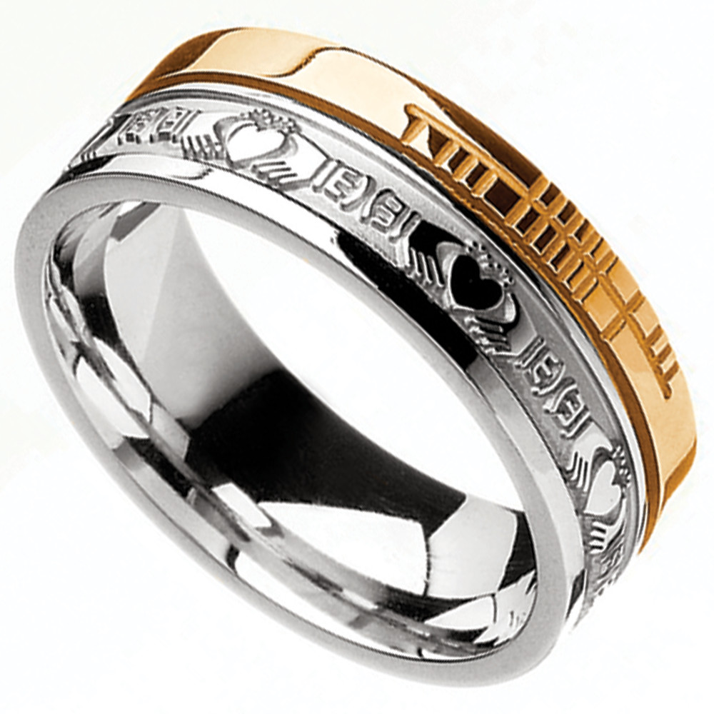 Irish Rings 10k Yellow Gold And Sterling Silver Comfort