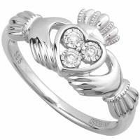Claddagh Ring - Ladies Irish Claddagh Ring 14k White Gold ...