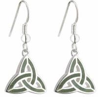 Celtic Earrings - Connemara Marble Trinity Knot Earrings ...