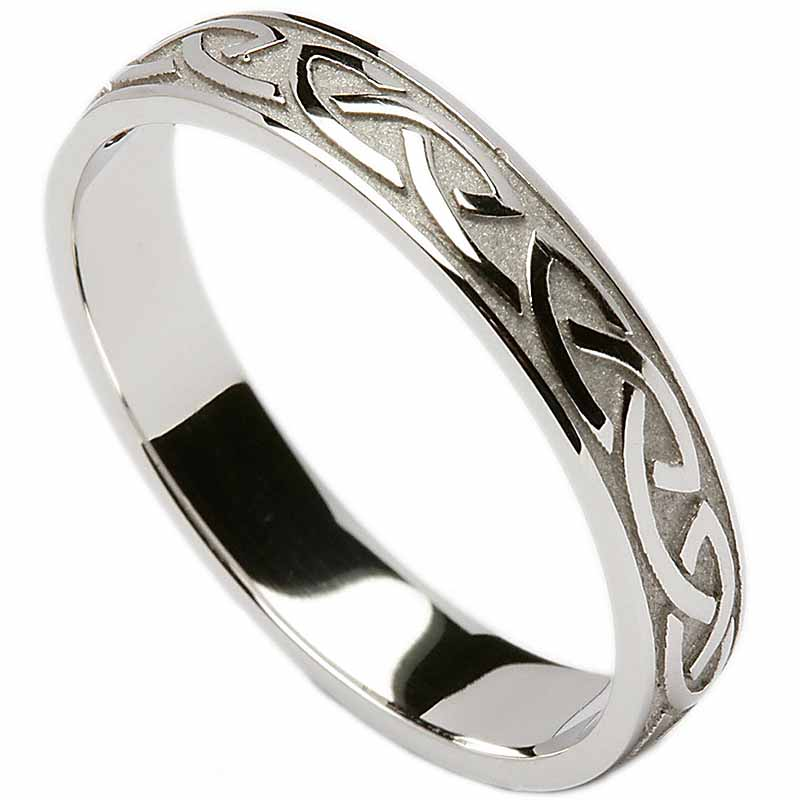 Irish Wedding Ring Celtic Knotwork Mens Wedding Band At
