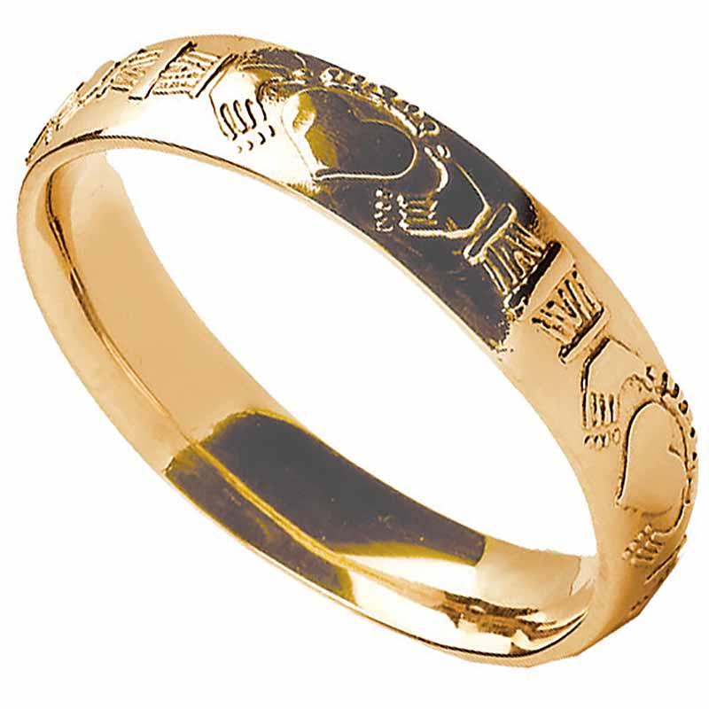 Claddagh Ring  Mens Claddagh Court Wedding Band at