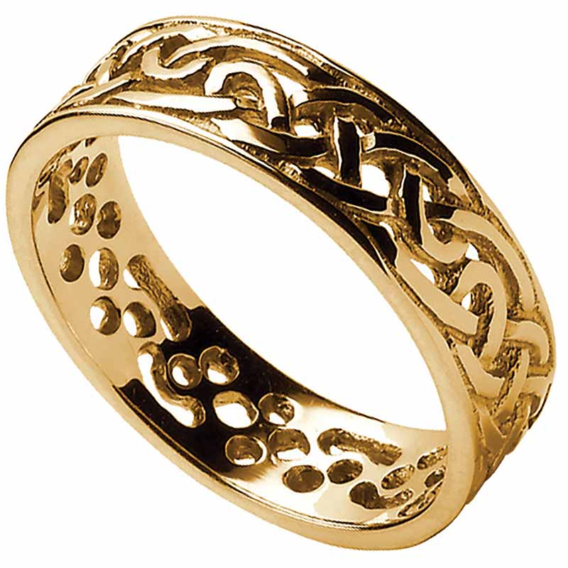 Celtic Ring Mens Filigree Celtic Wedding Band At