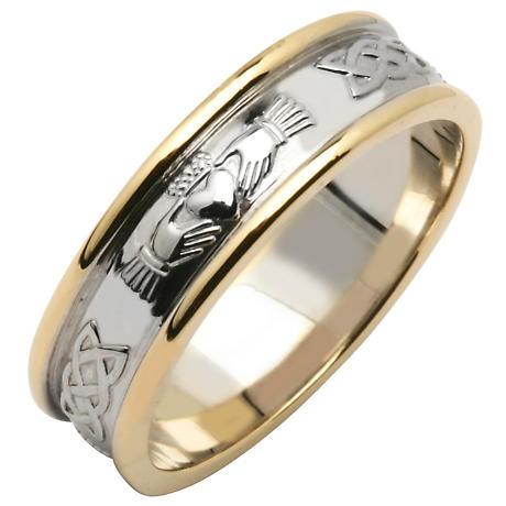 Irish Wedding Ring Ladies Sterling Silver Amp 14k Yellow