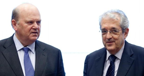 Minister for Finance Michael Noonan and Italy's Economy Minister Fabrizio Saccomanni at the Ecofin meeting in Luxembourg. Photograph: Reuters