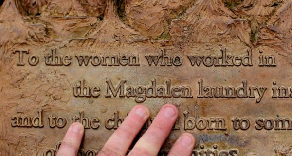 The  plaque dedicated to Magdalane Laundry survivors in St Stephens Green, Dublin. Photograph: PA