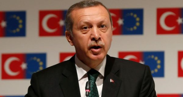 """Turkish prime minister Tayyip Erdogan:  """"We have suffered greatly from military coups . . . We don't want our Egyptian brothers to suffer as well."""" Photograph: Reuters/Osman Orsal"""