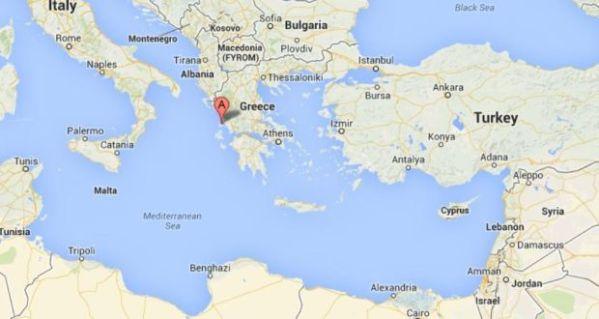 Lefkada Greece Map