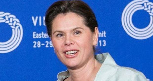 Slovenian prime minister Alenka Bratusek, whose government has pledged to avoid seeking official help from EU and IMF. Photograph: EPA/Andrius Ufartas