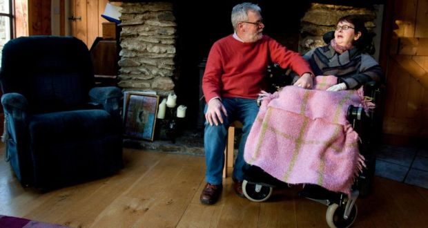 """Tom Curran and the late Marie Fleming at their home in Arklow, Co Wicklow. """"We knew that it had to come at some stage, but you're never really ready when it does come,"""" said Mr Curran yesterday. Photograph: Garry O'Neill"""