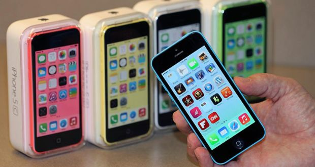 Apple's iPhone 5C: the tech giant sold 51 million iPhones in the first quarter of 2014. Photograph: George Frey/Reuters