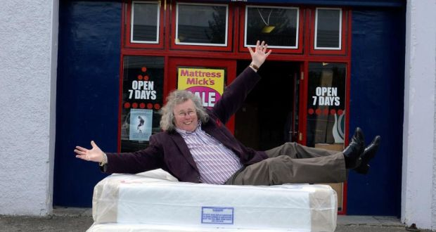 Soft Landing Mattress Mick Shows Off His Wares Photograph Dave Meehan