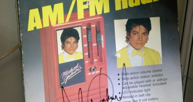 A Michael Jackson triple-signed radio licensed by MJJ Production, Inc, in 1984. His estate has become extremely  lucrative - it made $250 million by extending the singer's contract with Sony Corp., and more than $260 million from This Is It, a film cobbled together from footage of Jackson rehearsing for a series of concerts canceled in the wake of his death. (Photograph: EPA/MICHAEL NELSON)