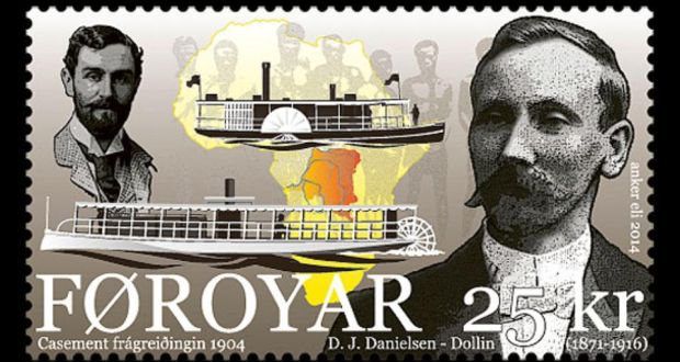 The Faroese government has issued a stamp with pictures of both Daniel J Danielsen and Roger Casement