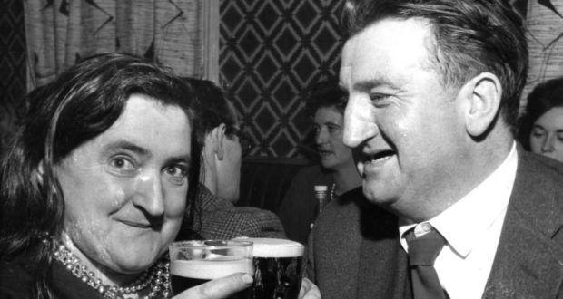 Margaret Barry and Brendan Behan in 1961. Photograph: Gordon Standing