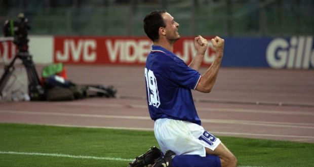Image result for schillaci goal vs ireland