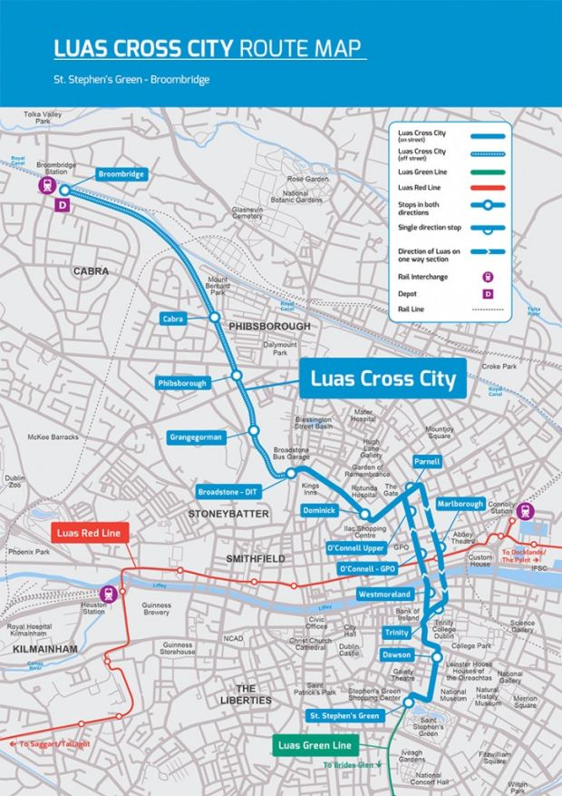 Luas Cross City Tracks To Arrive On OConnell Street