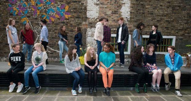 Young writers who have created stories and poetry for Fighting Words. Photograph: Dave Meehan