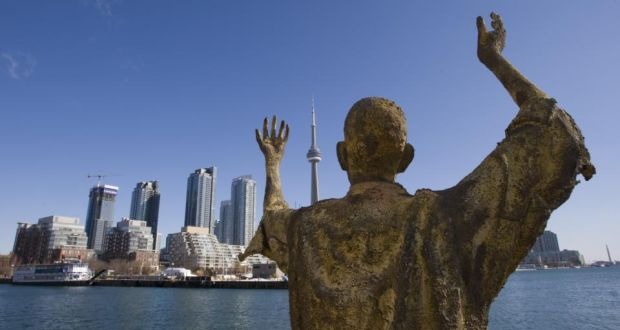 Famine memorial: Toronto from Ireland Park. Photograph: David Cooper/Toronto Star via Getty