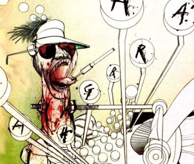 Ralph Steadman Cartoon Of Hunter Thompson From The  Documentary Gonzo The Life And