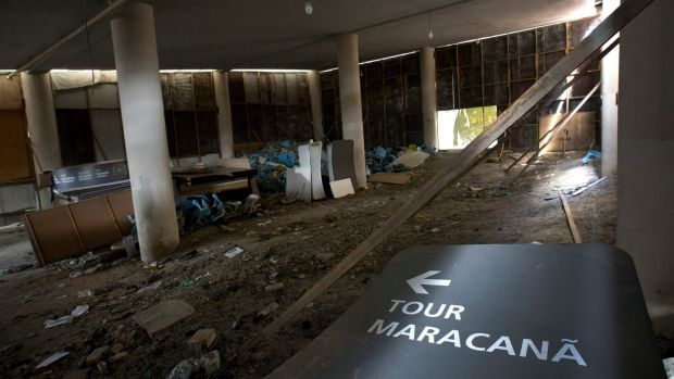 In pictures Rios Olympic venues lie abandoned and in