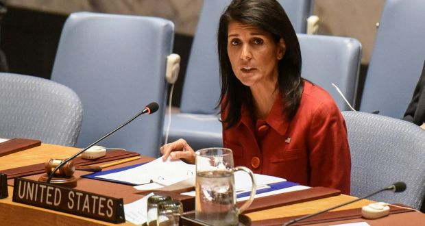 Image result for No Peace In Syria Until Assad Ousted, Says Nikki Haley