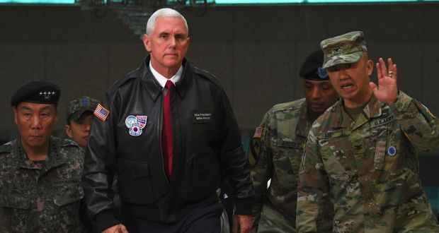 Image result for mike pence in south korea