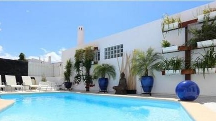 The 108sq m three-bedroom, four-bathroom home in Albufeira, Portugal, comes with a swimming pool