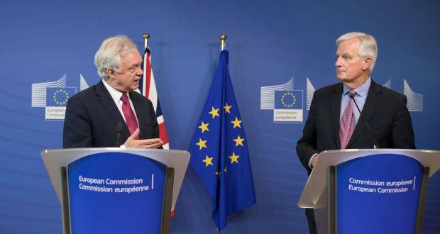Image result for Michel Barnier and david davis photos