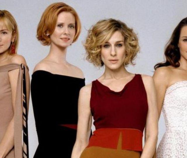 Kim Cattrall Cynthia Nixon Sarah Jessica Parker And Kristin Davis In Sex And The