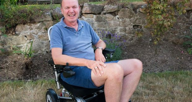 Fr Tony Coote, who has motor neuron disease. Photograph: Dave Meehan