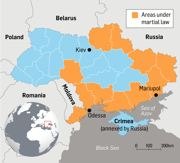 ukraine imposes martial law