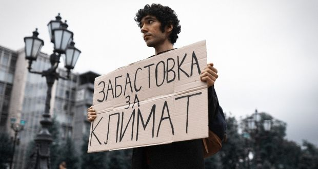 Climate activist Arshak Makichyan was arrested in Moscow last month before eventually being released. Source: Facebook
